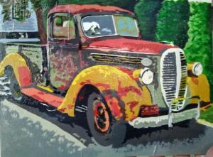Painting:  A Piece of History by Shelby Hoewisch of Dayton Community 4-H, Waupaca County