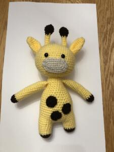 Fabric, Yarn or Fiber:  Giraffe by Emilie Cook of St. Croix Stars 4-H Club, Pierce County